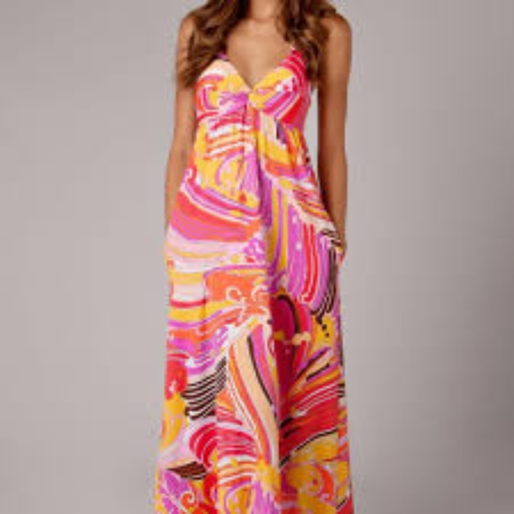 Trina Turk Dresses & Skirts - SUNDAY SALE! Trina Turk psychedelic halter maxi